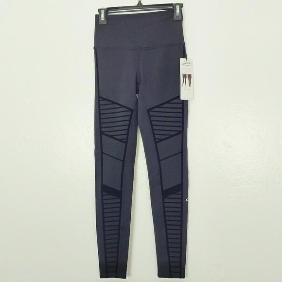 7405c55bb0 ALO Yoga Pants | Flocked High Waist Moto Legging | Poshmark